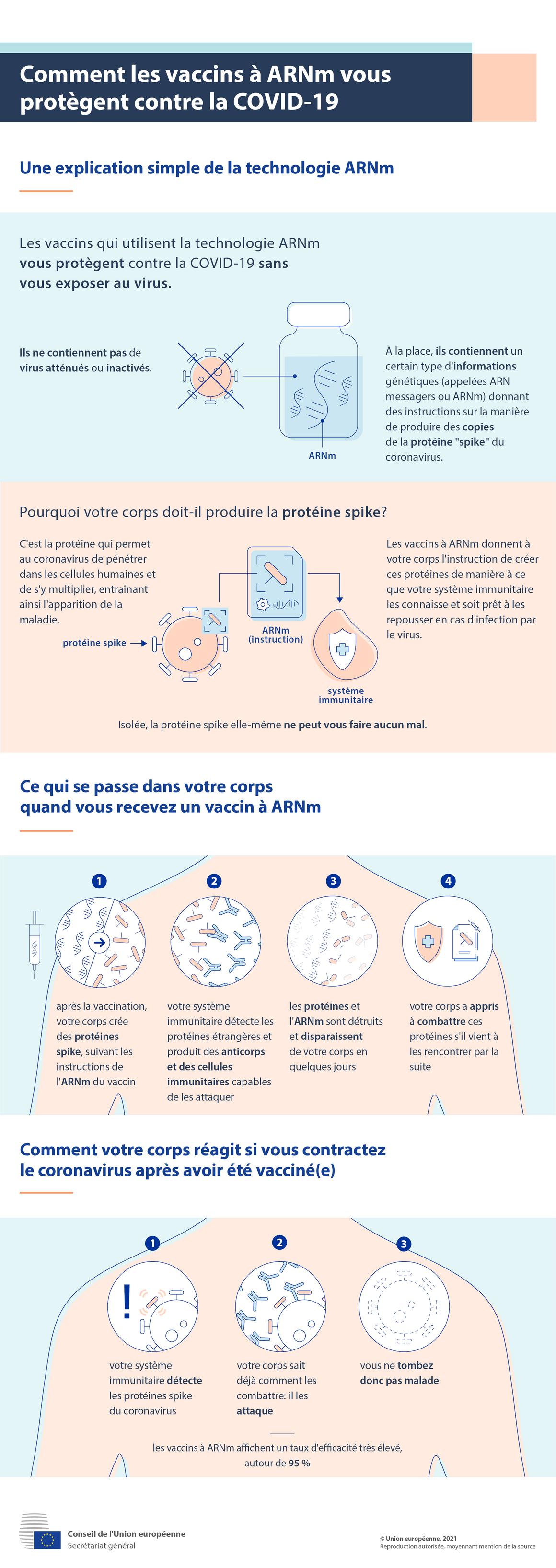 Infographie: Comment les vaccins à ARNm vous protègent contre la COVID-19