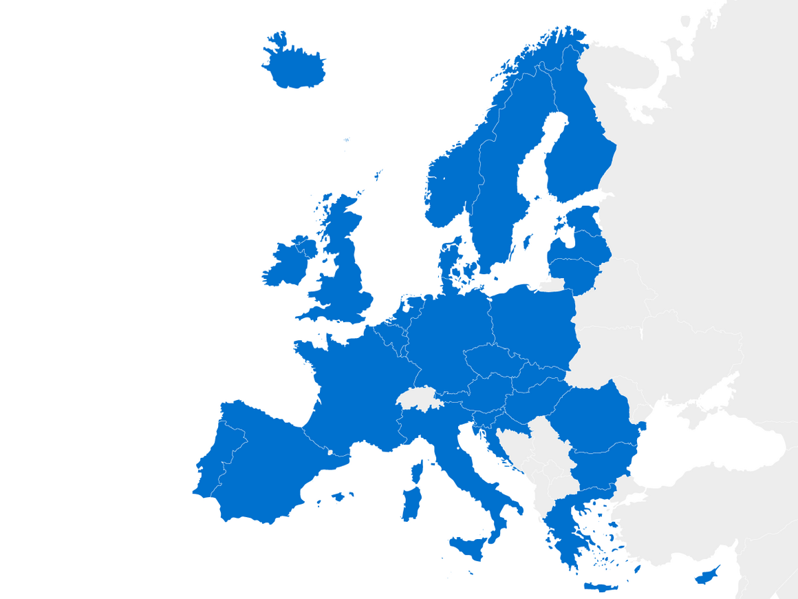 map of member states of the European Union