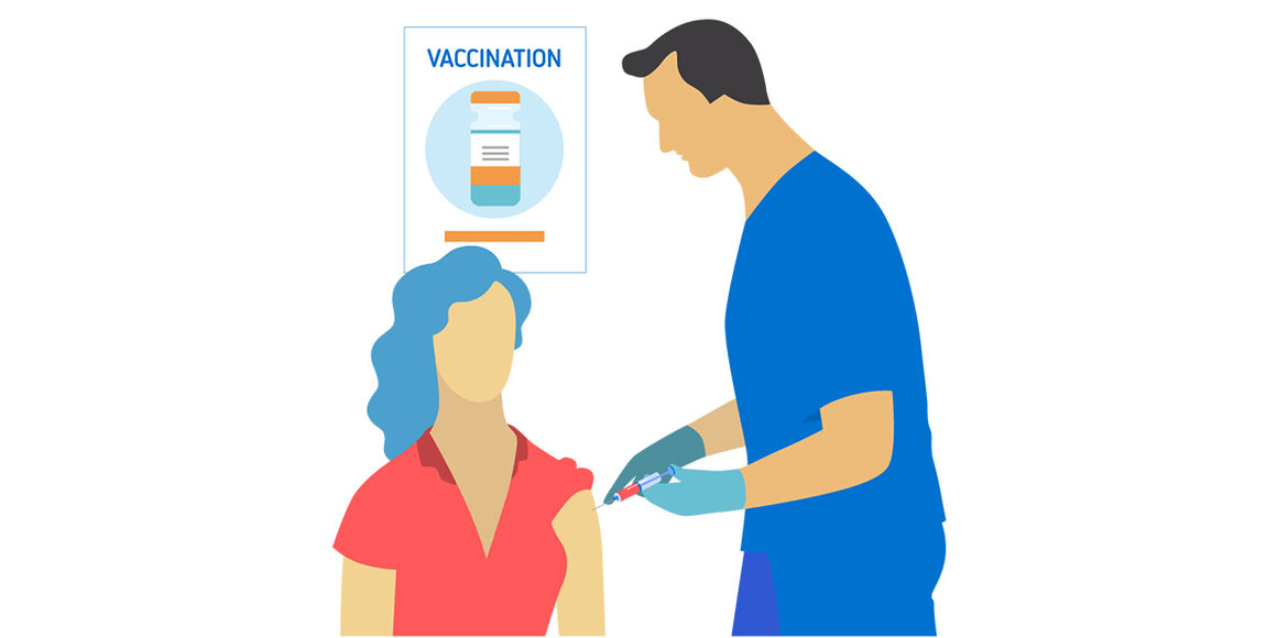 process of vaccination illustration